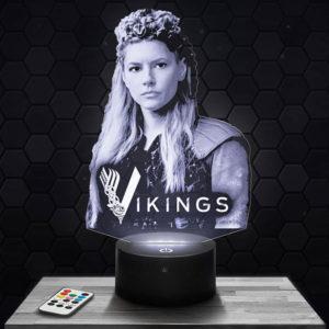 Lampe 3D Lagertha - Vikings avec socle au choix !