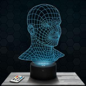 Lampe 3D Visage avec socle au choix !