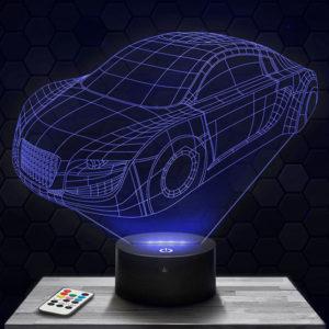 Lampe 3D Voiture Prototype Audi avec socle au choix !