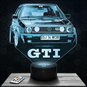 Lampe 3D Volkswagen Golf GTI avec socle au choix !